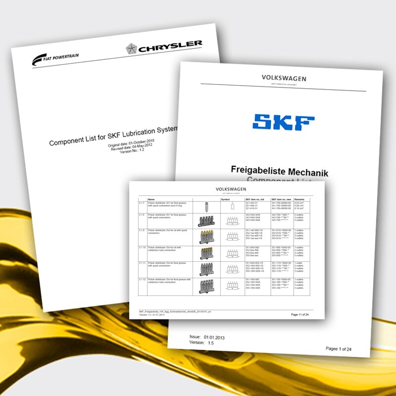 Download specifications of the automotive industry for SKF Lubrication Systems