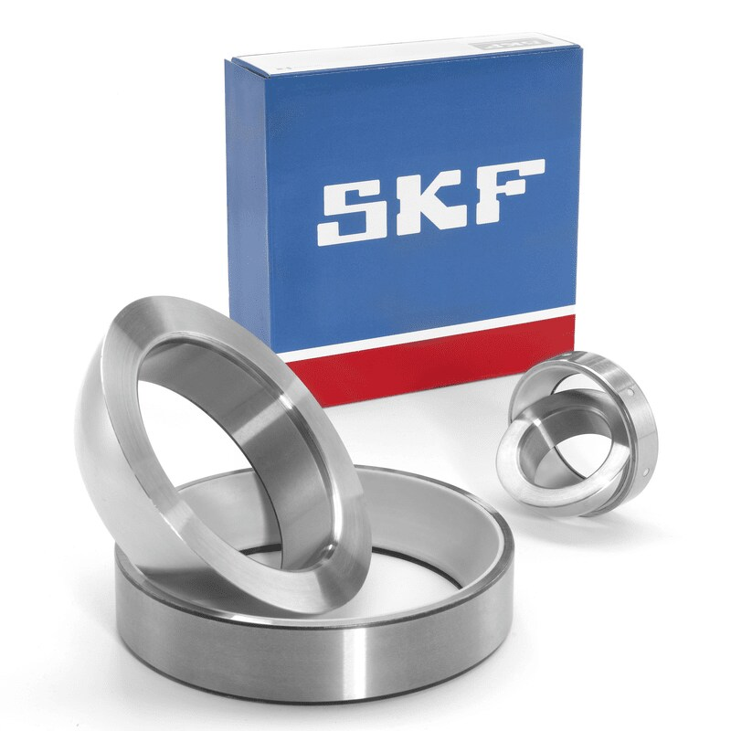 Angular contact spherical plain bearings
