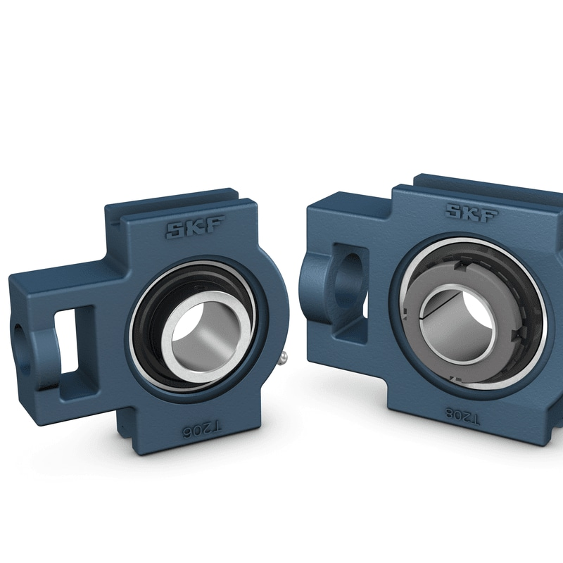Take-up ball bearing units, UC and UK