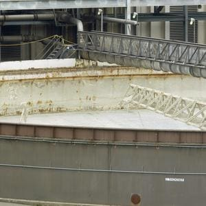 Slurry tank in coal plant