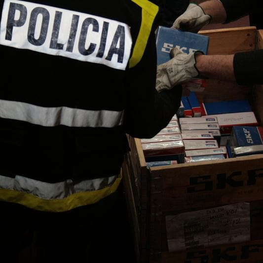 Anti-counterfeiting raid by police