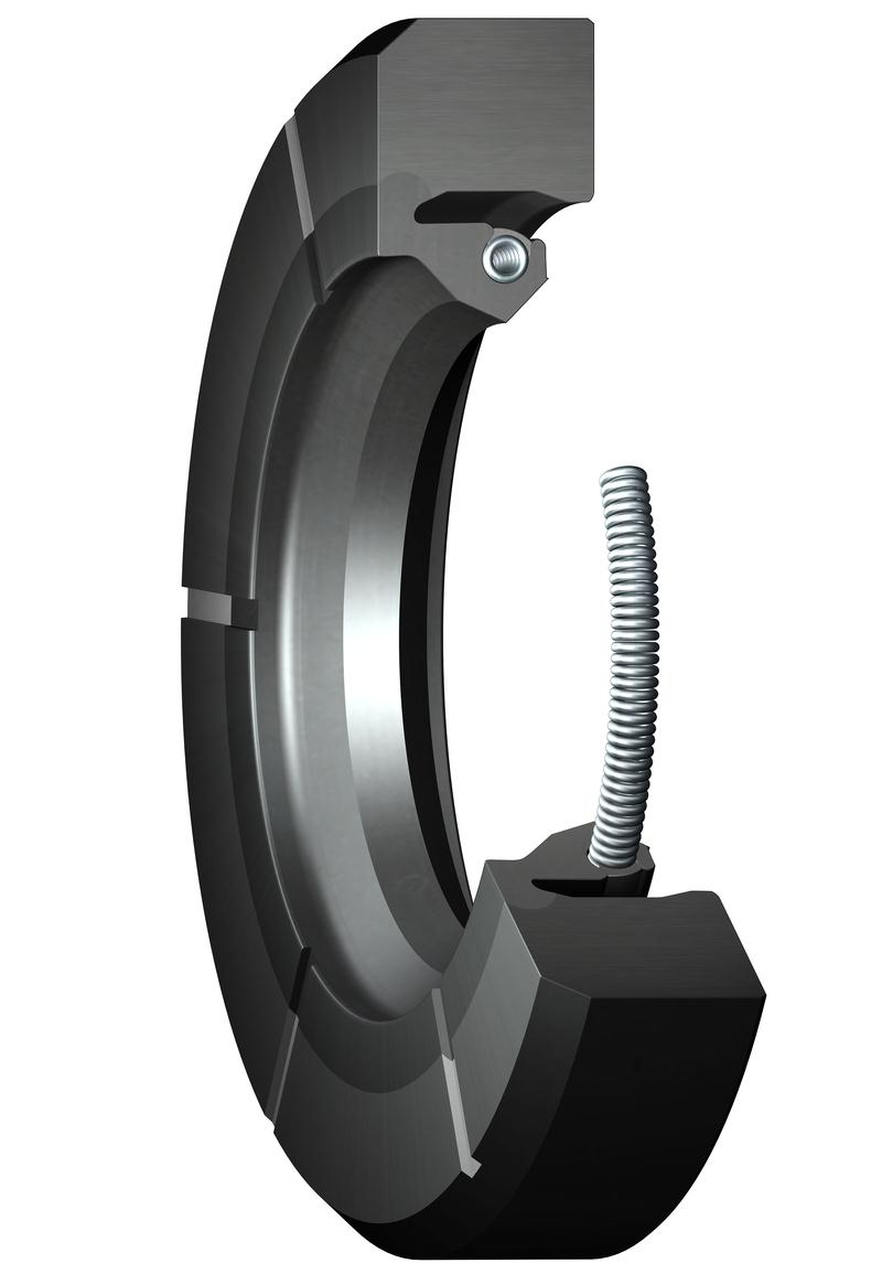 HSS large diameter seals with lubrication grooves