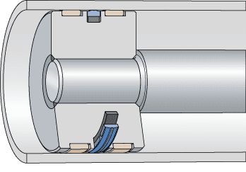 Piston seals with poly...
