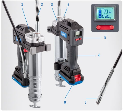 Electric Grease Gun >> Battery Grease Gun Skf Tlgb 20 Quick And Easy Grease Filling