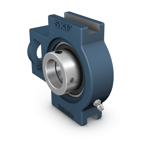 Ball bearing take-up unit with a grey cast iron housing
