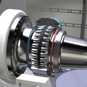 SKF Spherical Roller Bearings - Wind Turbine CAD