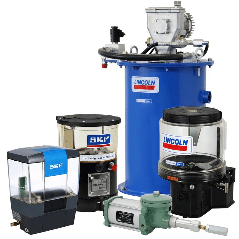 Lubrication pumps and pumping units