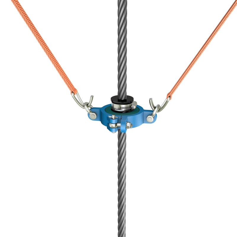 Groove cleaner complete on rope