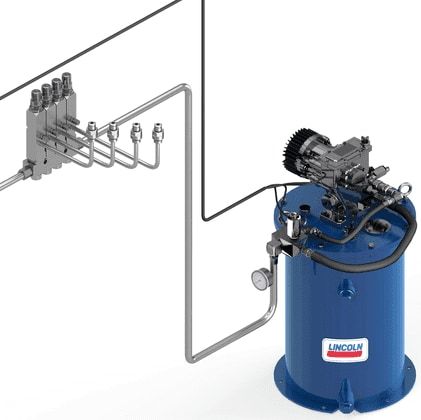SKF Single-line grease lubrication system - steel lines