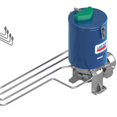 SKF Multi-line grease lubrication system - steel lines