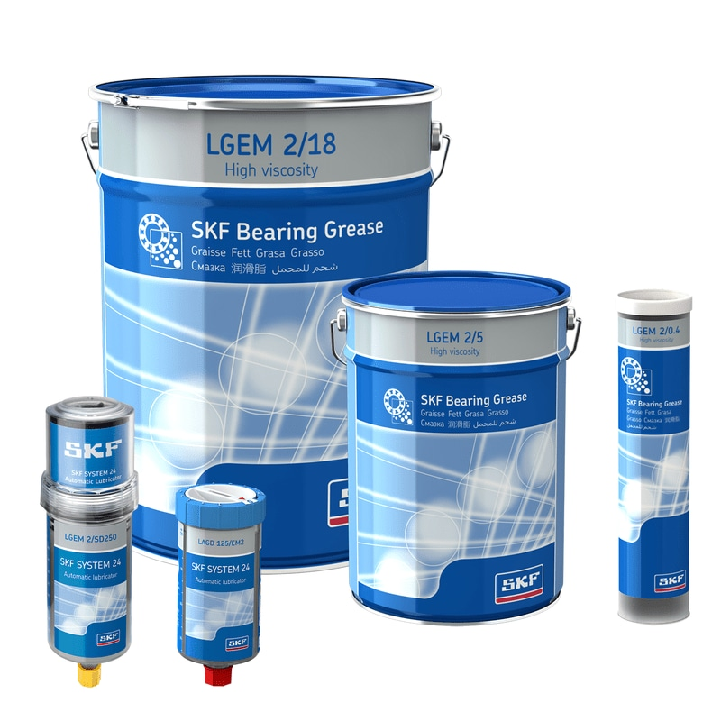 LGEM 2 SKF High viscosity bearing grease with solid lubricants