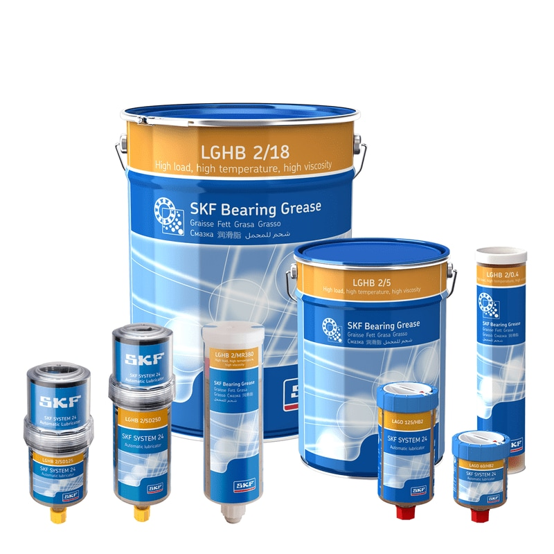 SKF High Load, High Temperature, High Viscosity Bearing Grease LGHB 2