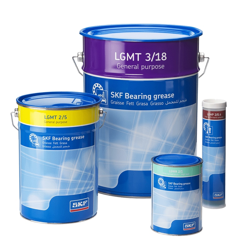 Specially formulated bearing greases for extended bearing service life