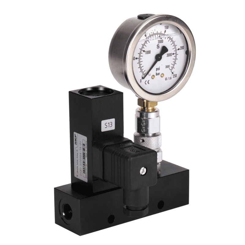 DSB with pressure gauge