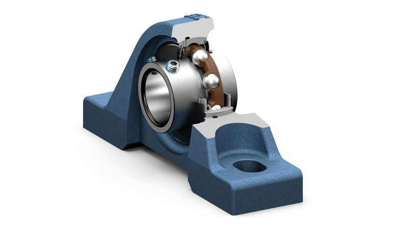 SKF insert bearing pillow block units - UC range in cut view