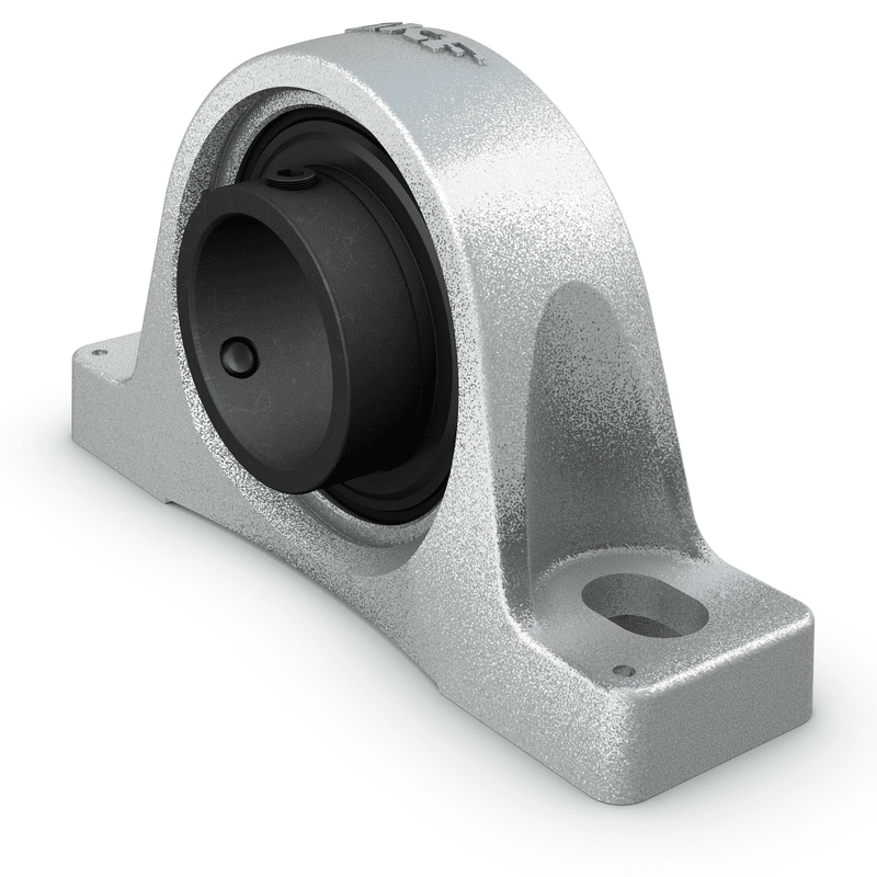 Insert bearings and ball bearing units for high temperature