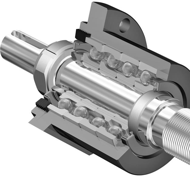 Support bearings for roller screws