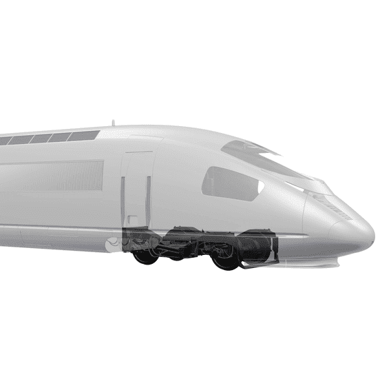 High speed Train 3d model