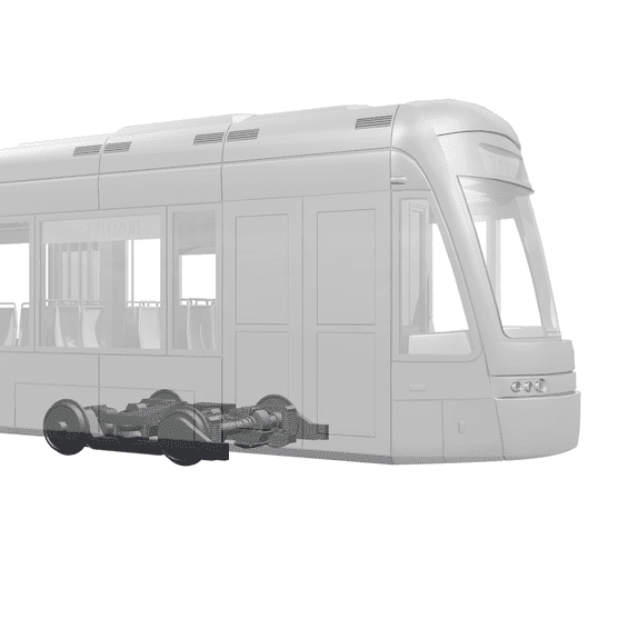 3d tram light rail model 67 degrees right