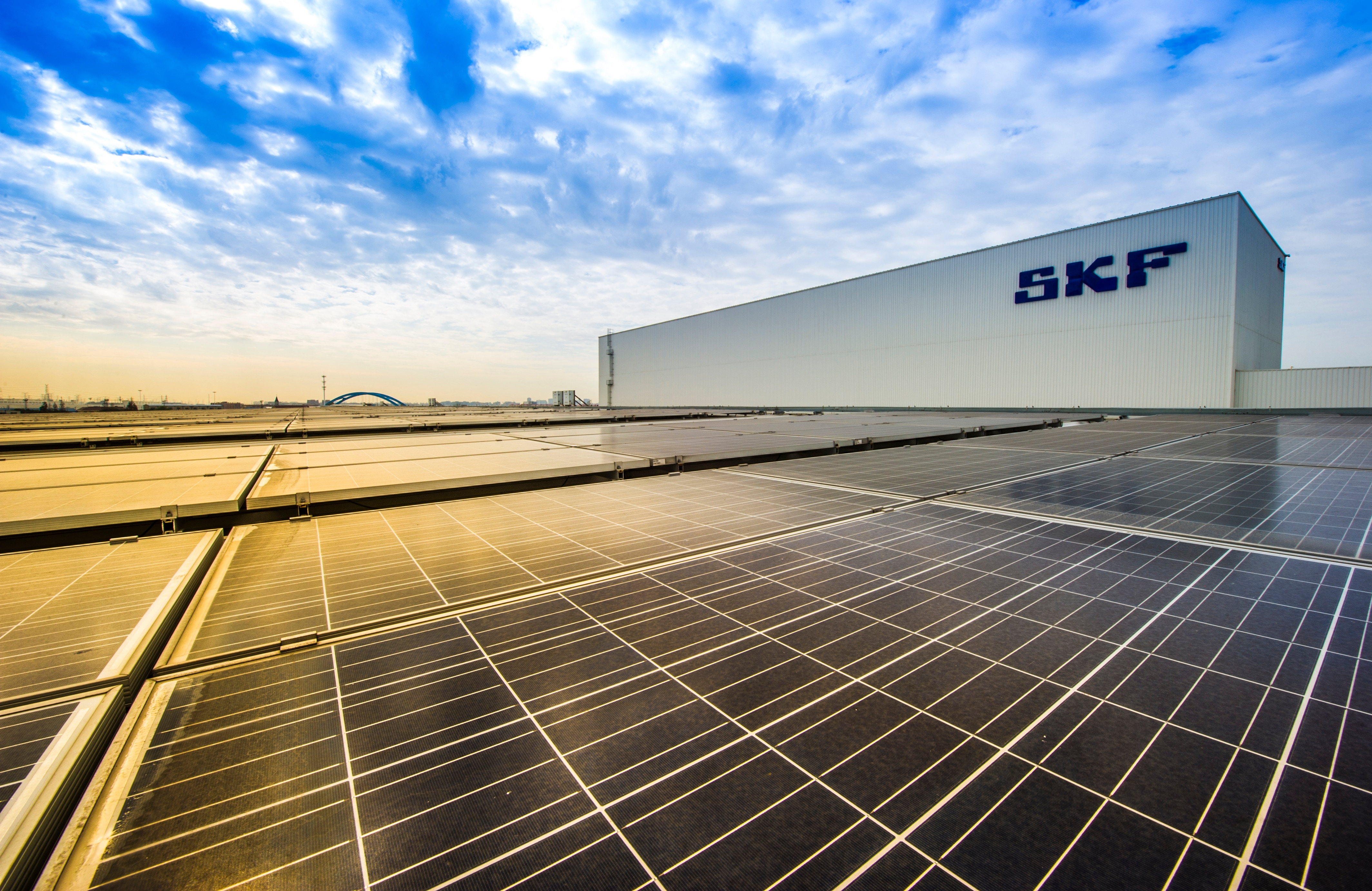 Solar panels on SKF building