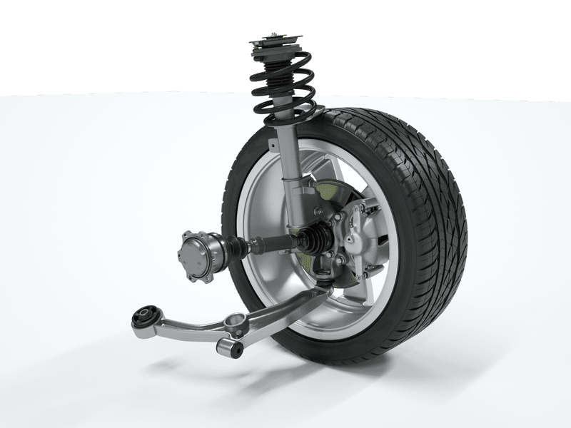 Car wheel suspension