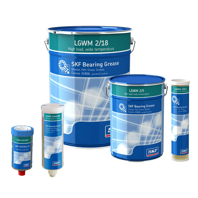 SKF High Load, Wide Temperature Bearing Grease LGWM 2