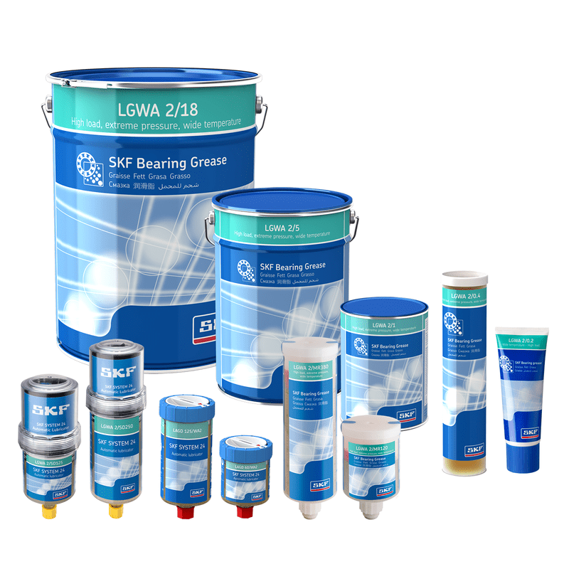 SKF High Load, Extreme Pressure, Wide Temperature Range Bearing Grease LGWA 2