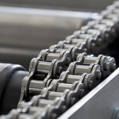 Chain conveyor in a rolling mill