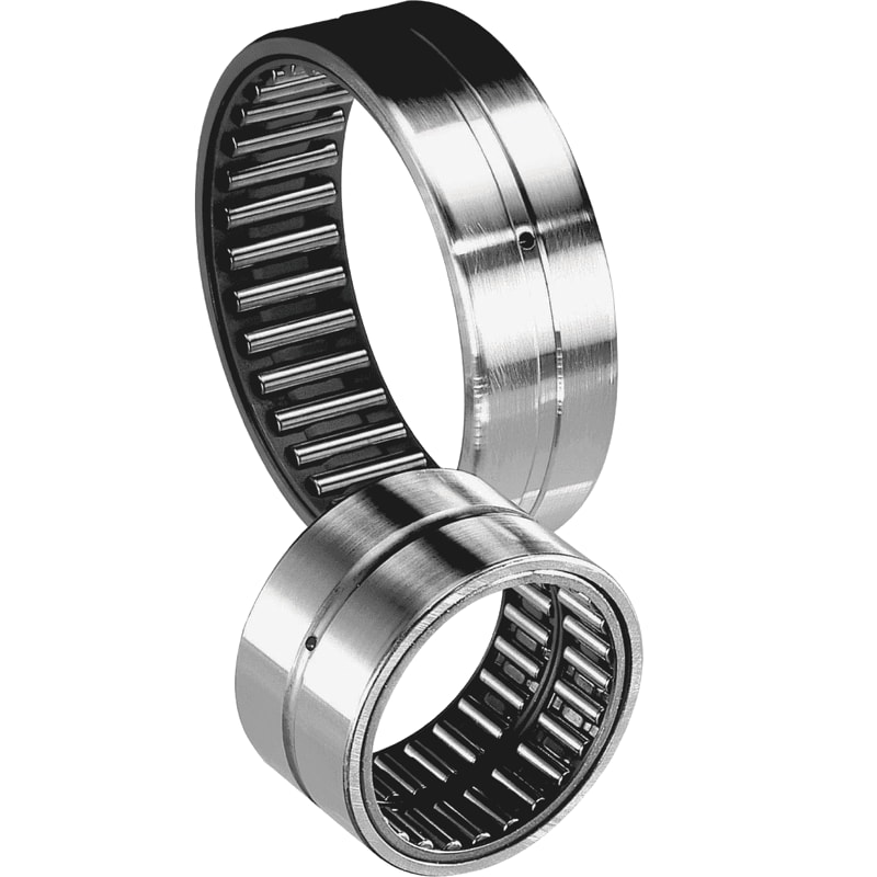 2 Needle roller bearings with machined rings