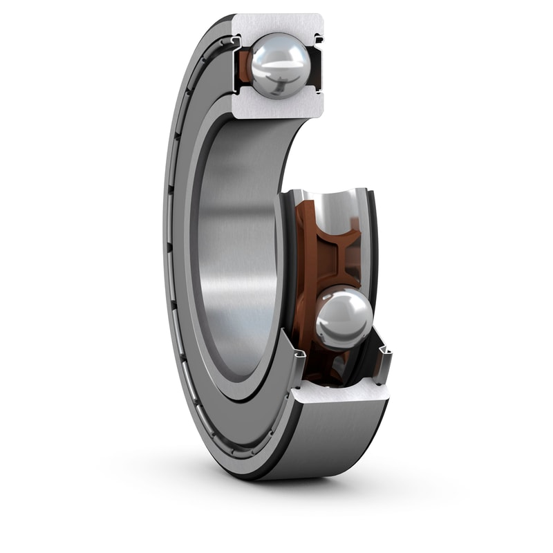Shielded SKF E2 deep groove ball bearing_cut-away view
