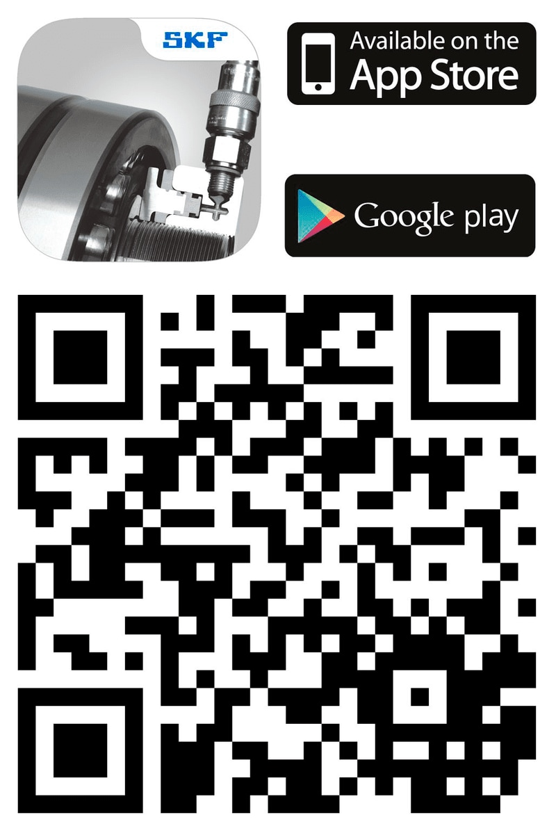 SKF Drive-up Method icon and QR code