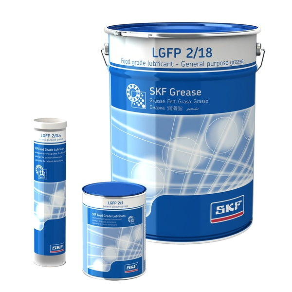 SKF Food Compatible Bearing Grease LGFP 2