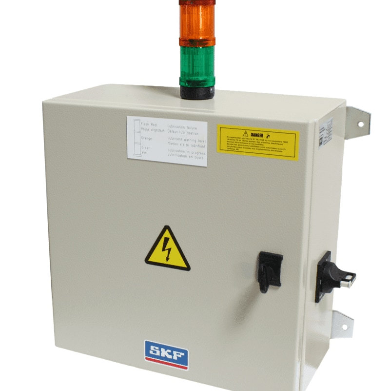 Control cabinet for open gear lubrication