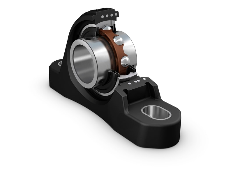 SKF composite housing 3D rendering cut away view