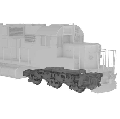 3d locomotive model