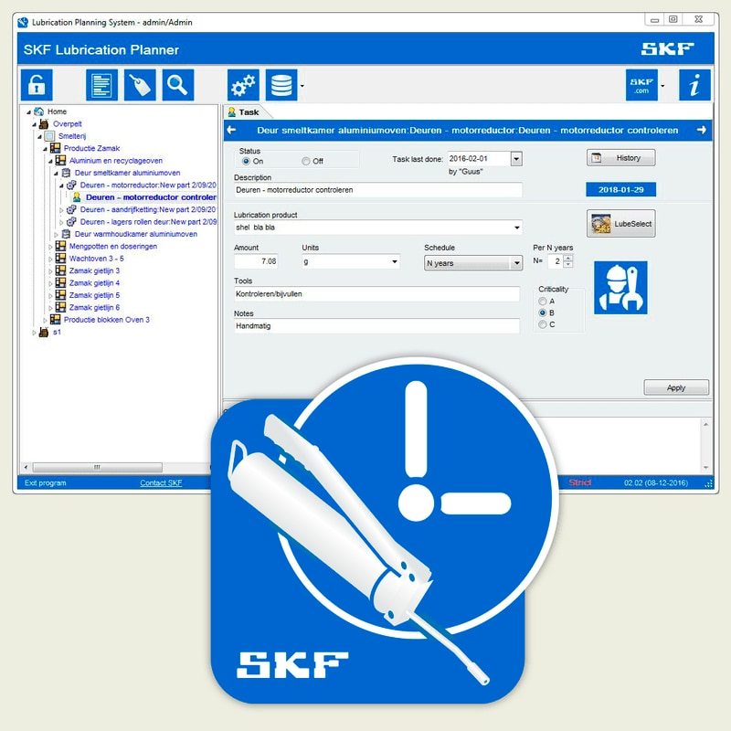 SKF Lubrication Planner