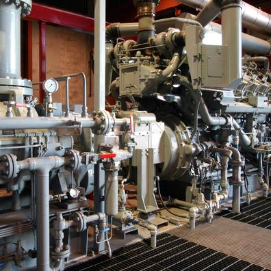 Natural gas compressor station