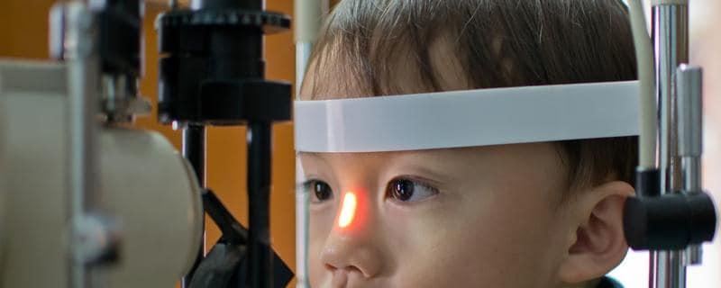 Opthalmic examination of child