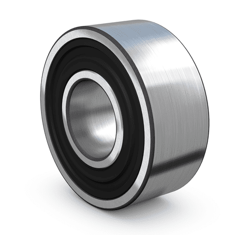 Self-aligning ball bearing with seals