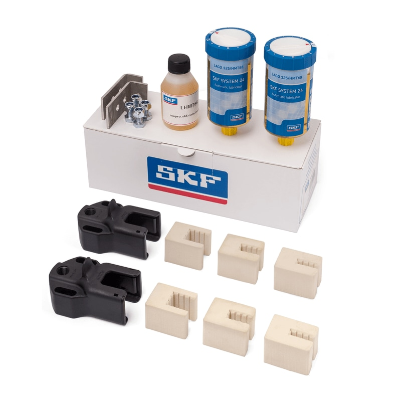 Elevator lubrication sets